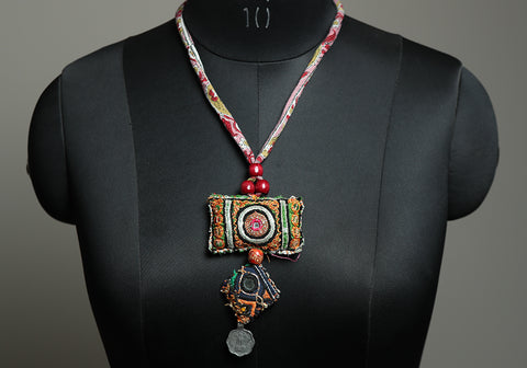 Upcycled Vintage Kutch Work Necklace Design 184