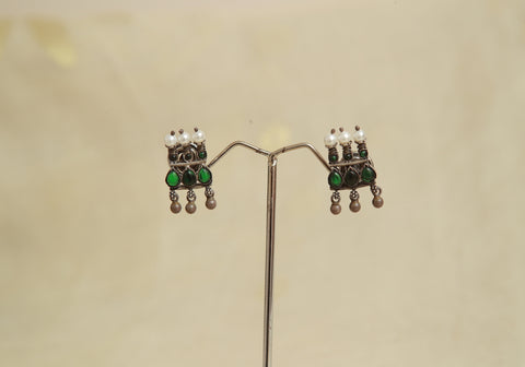 Sterling Silver Earrings  With Stones Design 69