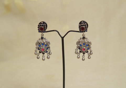 Sterling Silver Earrings  With Stones Design 70