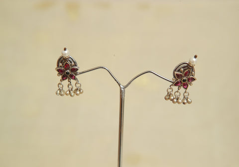 Sterling Silver Earrings  With Stones Design 73