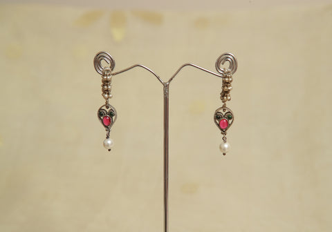 Sterling Silver Earrings  With Stones Design 75