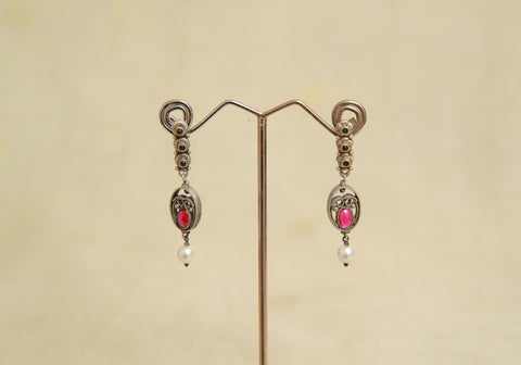 Sterling Silver Earrings  With Stones Design 76