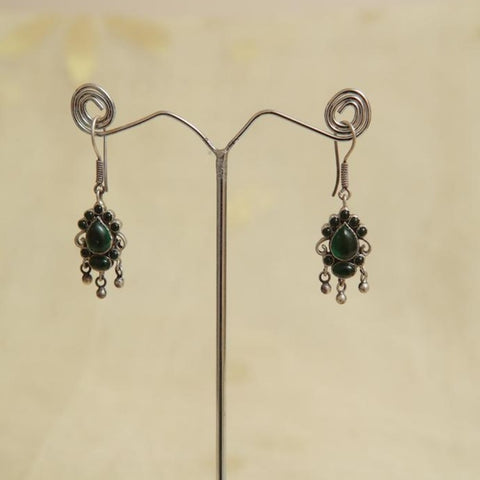 Sterling Silver Earrings  With Stones Design 78