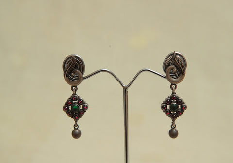 Sterling Silver Earrings  With Stones Design 80
