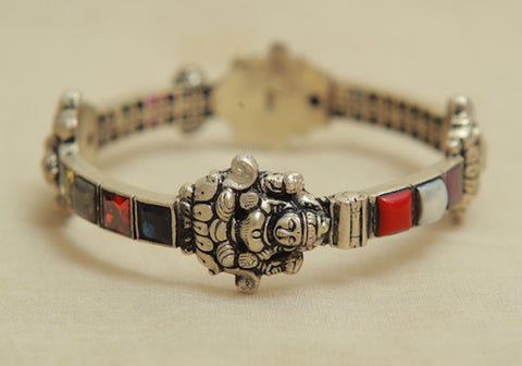 Silver Bangle with Stones Design 7