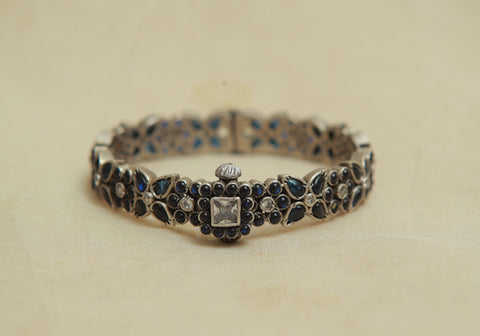 Silver Bangle with Stones Design 12