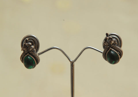 Sterling Silver Earrings  With Stones Design 84