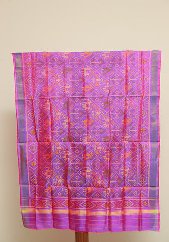 Purple  Ikat Patola Dupatta Design 2