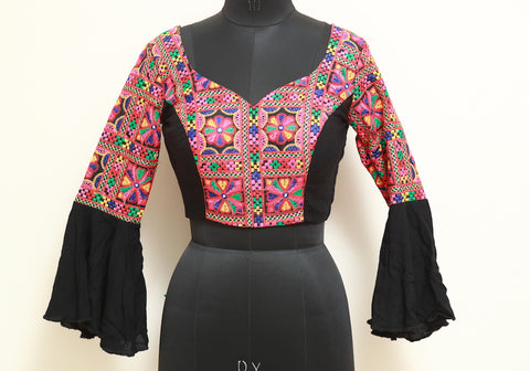 Black Kutch Work Blouse Design 7