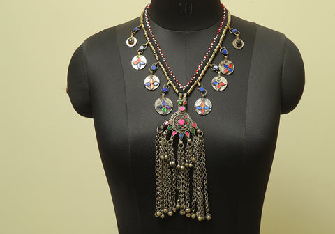 Antique Tribal Afghan Necklace Design 23