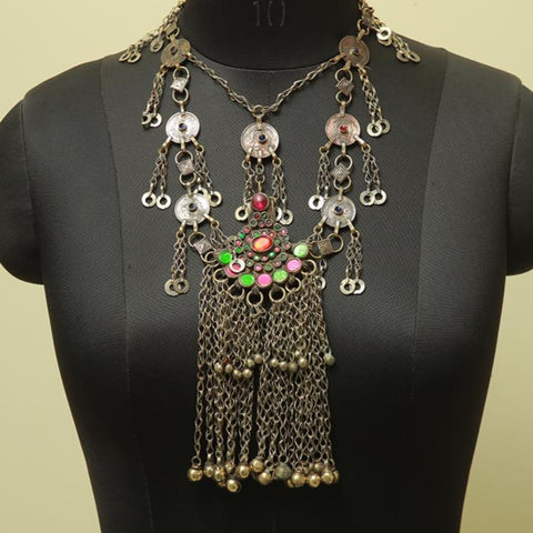 Antique Tribal Afghan Necklace Design 29