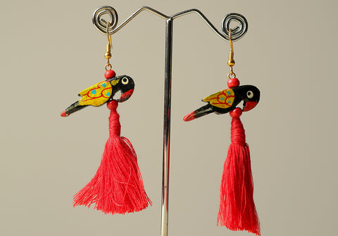 Wooden Bird Earrings Design 28