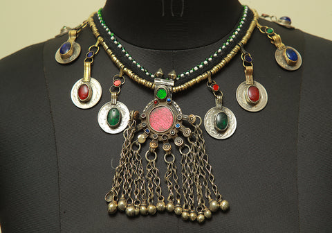 Antique Tribal Afghan Necklace Design 17