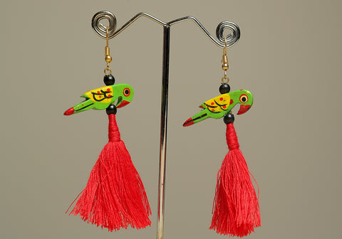 Wooden Bird Earrings Design 30