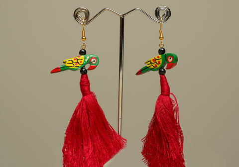 Wooden Bird Earrings Design 31