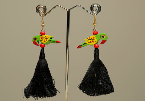Wooden Bird Earrings Design 32