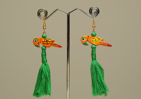 Wooden Bird Earrings Design 33