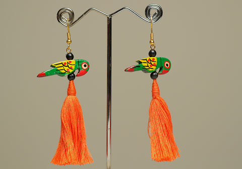 Wooden Bird Earrings Design 34