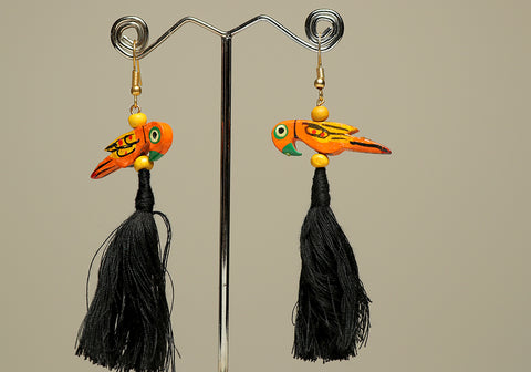 Wooden Bird Earrings Design 37