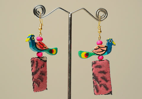 Upcycled Lightweight Cloth Earrings Design 4