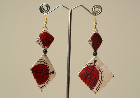 Upcycled Lightweight Cloth Earrings Design 7