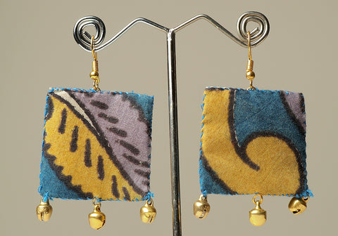 Upcycled Lightweight Cloth Earrings Design 17