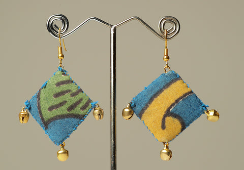 Upcycled Lightweight Cloth Earrings Design 18