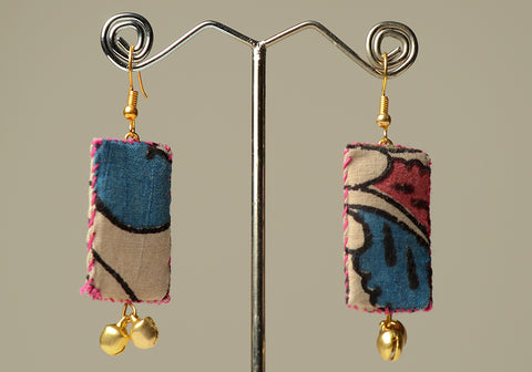 Upcycled Lightweight Cloth Earrings Design 22