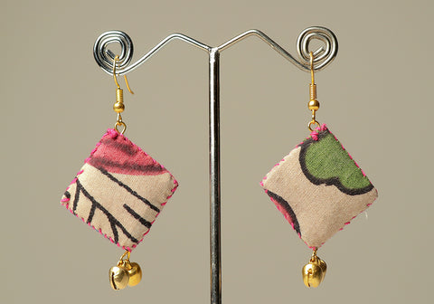 Upcycled Lightweight Cloth Earrings Design 24