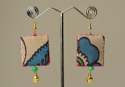 Upcycled Lightweight Cloth Earrings Design 28