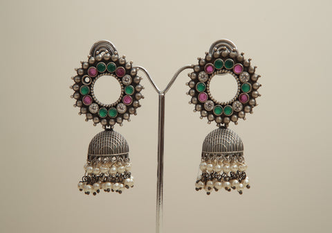 Silver Look Alike Earrings Design 2