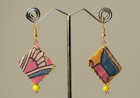 Upcycled Lightweight Cloth Earrings Design 30