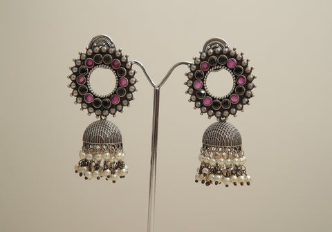 Silver Look Alike Earrings Design 4