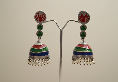 Silver Look Alike Earrings Design 7