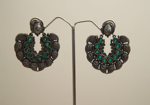 Silver Look Alike Earrings Design 10