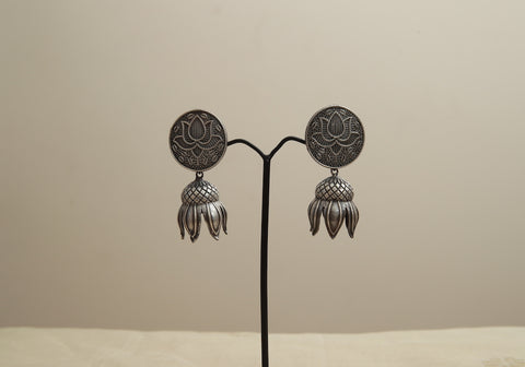 Silver Look Alike Earrings Design 6