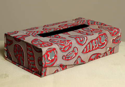 Block Printed Tissue Box Design 2