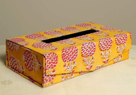 Block Printed Tissue Box Design 3