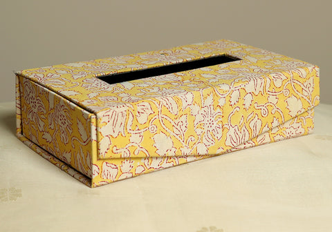 Block Printed Tissue Box Design 4