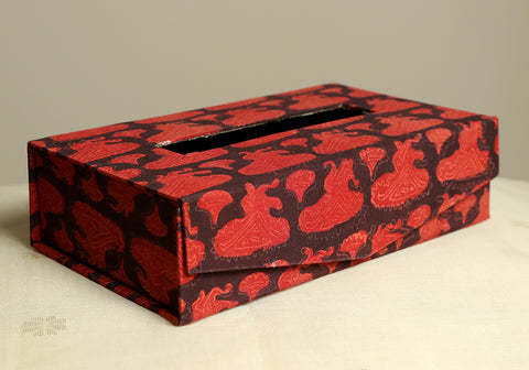 Block Printed Tissue Box Design 5