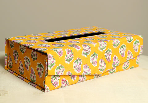 Block Printed Tissue Box Design 9