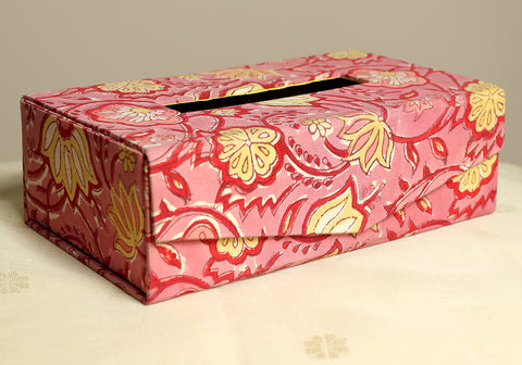 Block Printed Tissue Box Design 7
