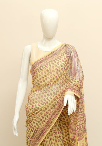Block Printed Kota Saree Design 10
