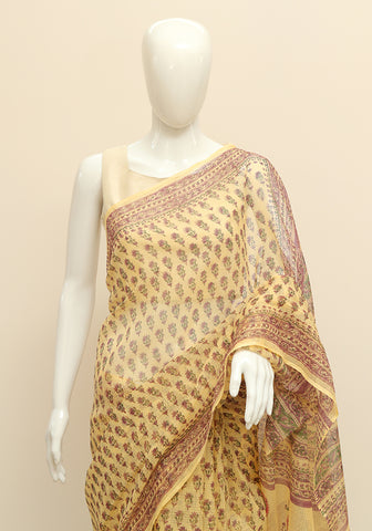 Block Printed Kota Saree Design 16
