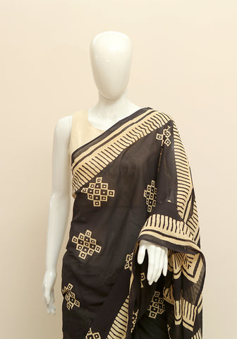 Block Printed Mul Cotton Saree Design 3