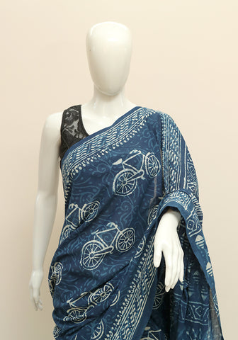 Block Printed Mul Cotton Saree Design 14