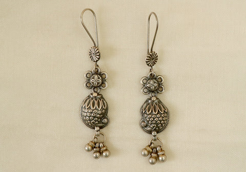 Daily wear light weight sterling silver earrings design 9