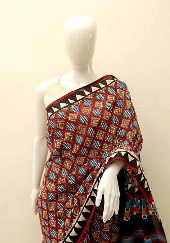 Block Printed Mul Cotton Saree Design 17