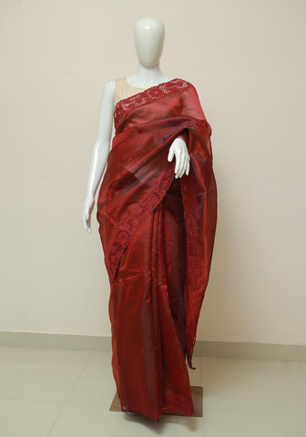 Block Printed Chanderi Saree Design 13