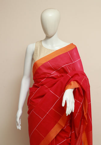Handloom Cotton Saree Design 2